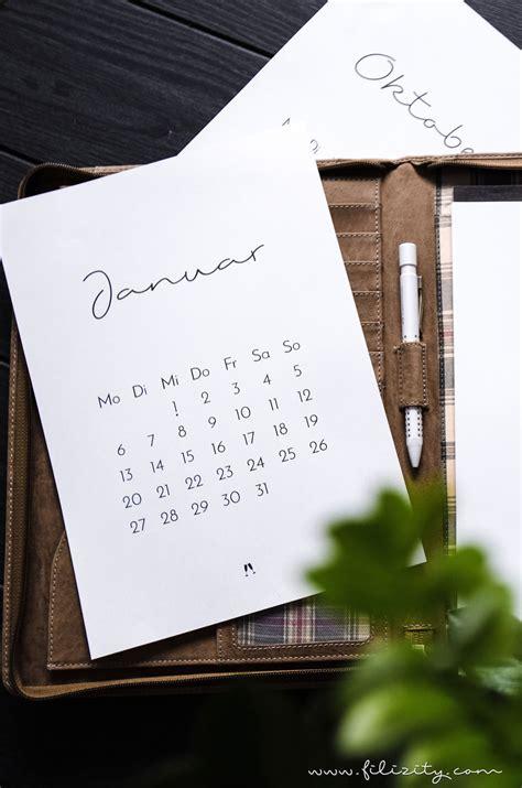 minimalistischer wand tisch kalender