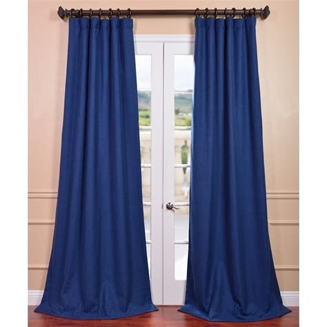 royal blue curtains simple bedroom decor with faux linen curtains in royal