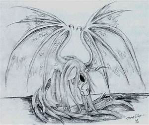 dark unicorn with wings 2 by DarkZoneRomana on deviantART