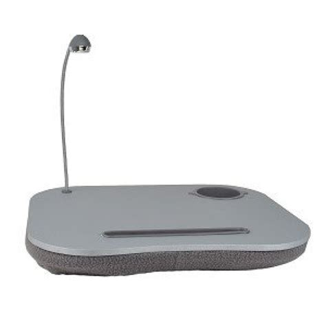 lap desk with light laptop desk with built in cushion led light and cup holder