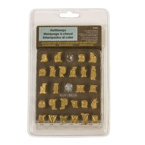 find  walnut hollow hot stamps alphabet set lowercase