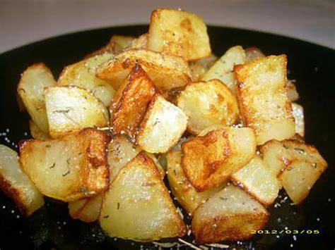 recette cuisine pomme de terre recette pomme de terre poelee