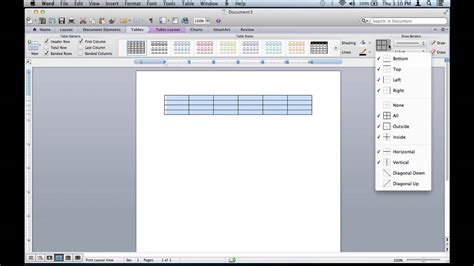 remove table lines   microsoft word document
