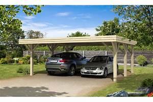Carport 2 Voitures Alu : carport 2 voitures br hat toit plat double 40 8m couvert ~ Medecine-chirurgie-esthetiques.com Avis de Voitures
