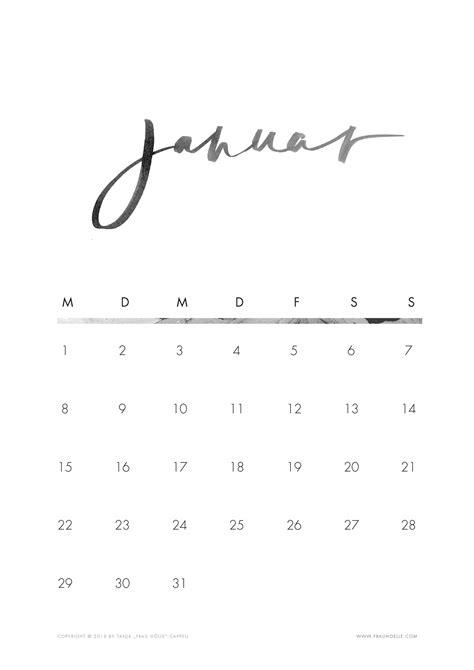kalender zum ausdrucken   hell