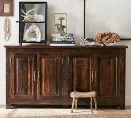 bowry reclaimed wood media console pottery barn With bowry bed pottery barn