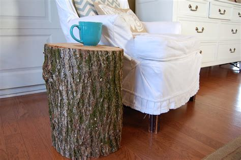 how to make a tree stump end table how to make a stump table