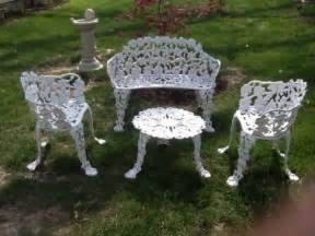 antique cast iron 4 patio furniture set grapevine