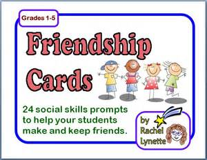 Social Skills Friendship Cards