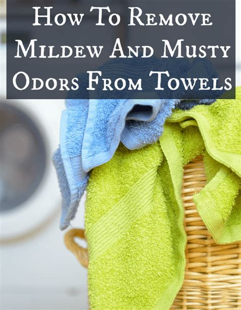 how to get rid of that mildew smell when you can t wash on