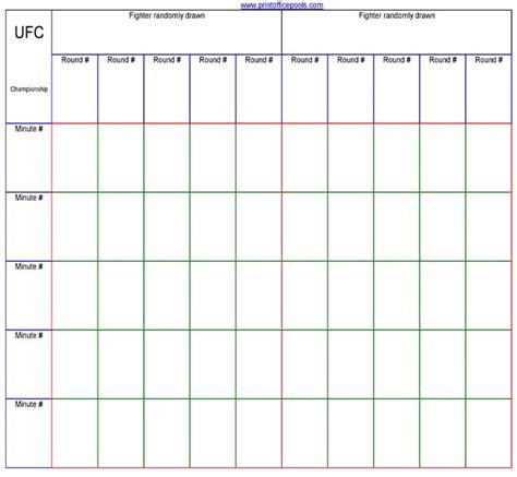 printable ufc championship office pool spreadsheet template