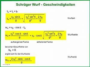 Schräger Wurf Anfangsgeschwindigkeit Berechnen : im gravitationsfeld der erde ppt video online herunterladen ~ Themetempest.com Abrechnung