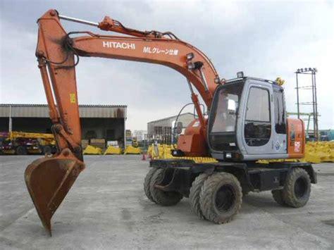 hitachi wheel excavator exwd   sale   hand surplus equipmatching