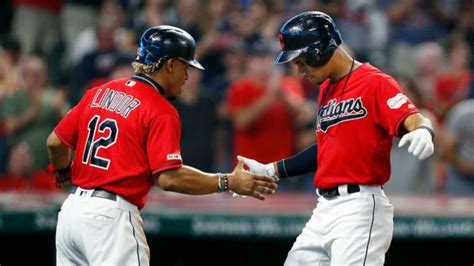 series teams mlb position win maxwell david getty indians lindor run cleveland francisco