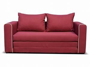 canape fixe convertible 2 places en tissu laura coloris With tapis rouge avec canapé droit convertible conforama