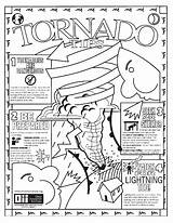 Tornado Coloring Pages Weather Storm Warning Printable Realistic Colour Drawing Severe Disaster Natural Template Getdrawings Getcolorings Crafts sketch template