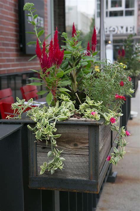 rail hanging planters modern railing planters custom by rushton