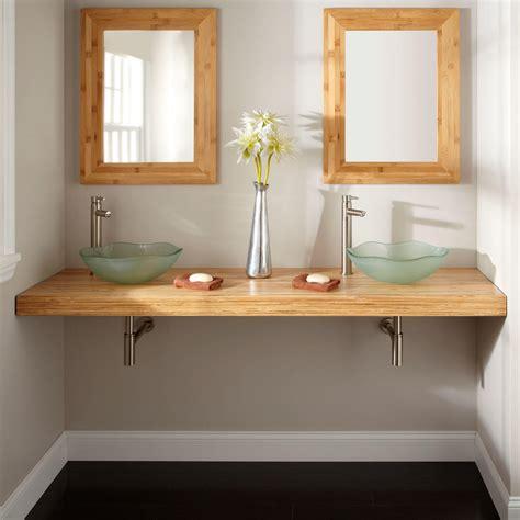 Vanity Bathroom Sinks by 25 Quot X 22 Quot Bamboo Vessel Sink Vanity Top Vanity Tops
