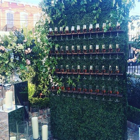 champagne wall perfect    guests  wedding