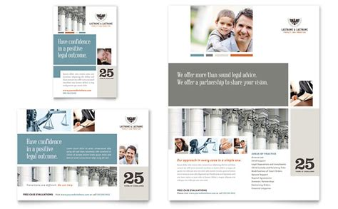 family law attorneys flyer ad template design
