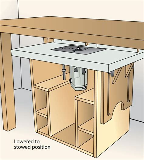 telescoping top router table woodworking plan shop project plan wood store wood shop ideas