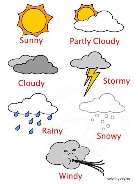 weather printables  kindergarten coloring page