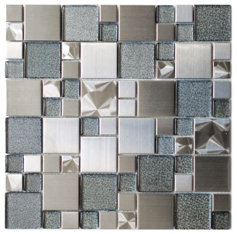 kitchen tiles design pictures modern cobble stainless steel with silver glass tile 6296