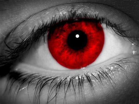 Pencil And In Color Red Eyes