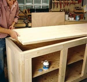 creer un comptoir bar cuisine amnage en l au milieu du With construire un meuble de rangement