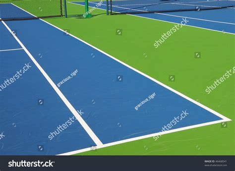 angled view outdoor tennis court florida stock photo  shutterstock
