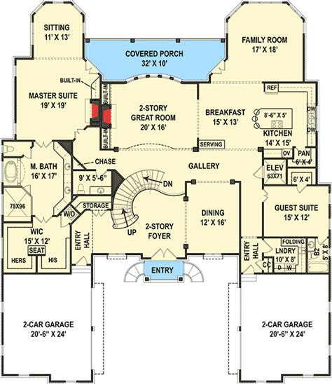 Six Bedroom House Plans by Six Bedroom Luxury Chateau 12278jl 1st Floor Master