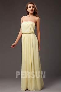 Robe Rose Pale Demoiselle D Honneur : robe de soir e rose bustier empire ligne a en mousseline ~ Preciouscoupons.com Idées de Décoration