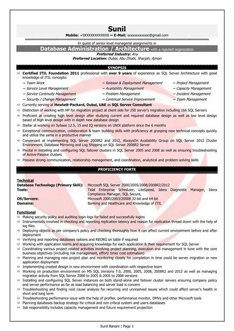 pl sql developer sle resumes resume format