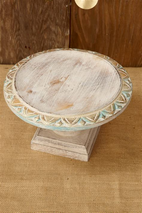 shabby chic stands wood cake stand white