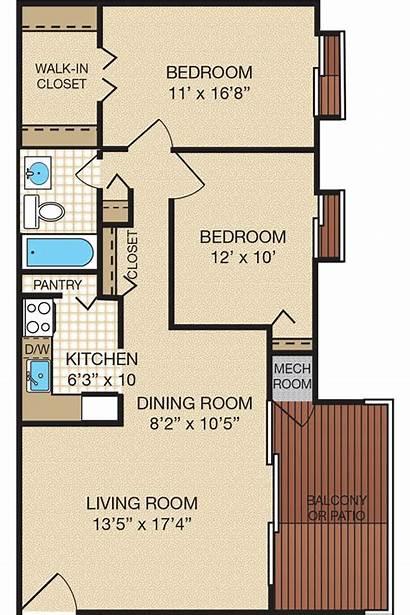 Floor Bedroom Plans Apartment Bath Bedrooms Apartments