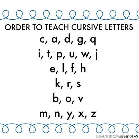 cursive writing alphabet  easy order  teach cursive