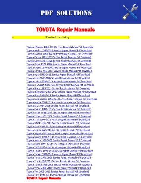 car service manuals pdf 2005 toyota camry instrument cluster repair manuals toyota pdf download