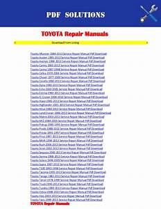 Repair Manuals Toyota Pdf Download