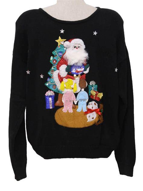 christmas work progress ugly sweater 1980