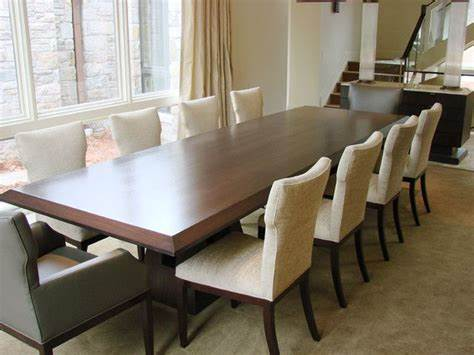 Duncan phyfe double pedestal dining room table seats 10 to 12 people. Long Dining Table furniture: long dining room tables modern extra large and table kwtfano | 10 ...