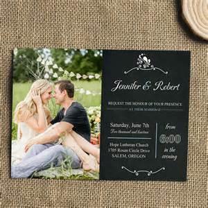 photo wedding invitations special wednesday unique wedding photo ideas