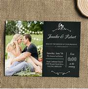 Affordable Romantic Chalkboard Photo Wedding Invitations At 604 606 In The Advantages Of Do It Yourself Wedding Invitations Photo Booth Style Wedding Save The Dates And Invitations Pixel Ink Popular Wedding Invitations 2015 Wedding Invitation Wording Ideas