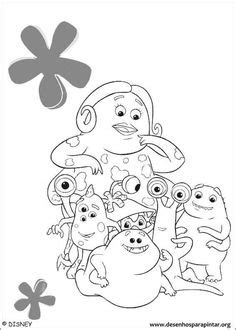 Coloring Mike Wazowski picture | Disney coloring pages
