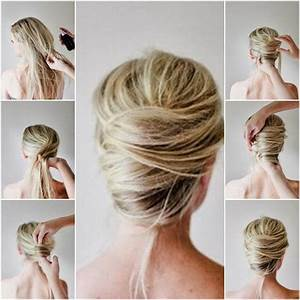 How to Make Messy French Twist Updo Hairstyle FAB ART DIY Tutorials