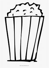 Popcorn Coloring Pages Clipart Clipartkey sketch template