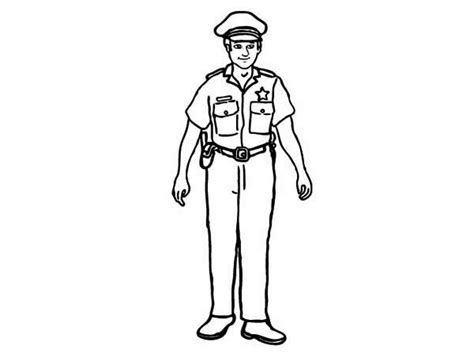 11589 policeman clipart black and white free officer outline free clip free