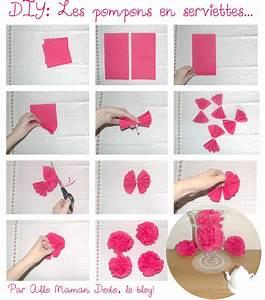 Comment Faire Une étoile En Papier : apprends en 10 secondes faire des pompons avec des ~ Nature-et-papiers.com Idées de Décoration