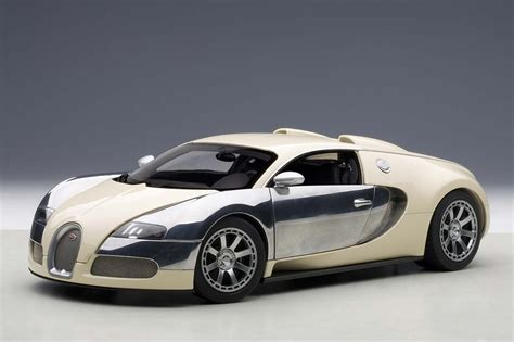 Highly Detailed Autoart Die-cast Model White/chrome