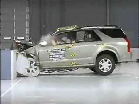 crash test   cadillac srx iihs frontal offset