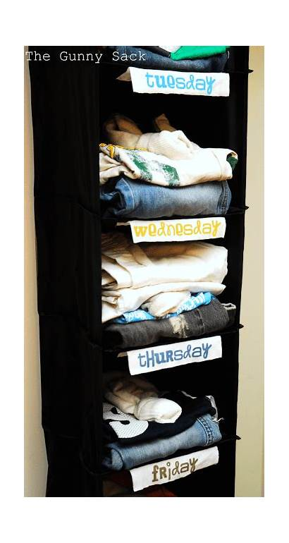 Organization Organizer Outfit Clothes Organize Weekly Sack